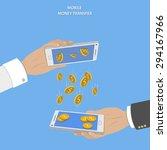 mobile money transfer vector...   Shutterstock .eps vector #294167966