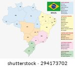 brazil  administrative and... | Shutterstock .eps vector #294173702