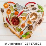 collection of herbs and spices... | Shutterstock . vector #294173828