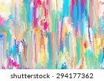 colorful abstract painting... | Shutterstock . vector #294177362