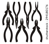 tools  pliers and cutters black ... | Shutterstock .eps vector #294180176