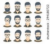 flat icons collection of... | Shutterstock .eps vector #294180722