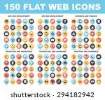 vector set of 150 flat web... | Shutterstock .eps vector #294182942