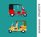asian auto rickshaw or baby... | Shutterstock .eps vector #294185378