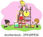 cartoon children are studying... | Shutterstock .eps vector #294189926