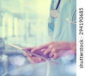 healthcare and medicine. doctor ... | Shutterstock . vector #294190685
