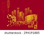 vector design   eps10 building... | Shutterstock .eps vector #294191885