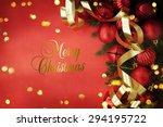 christmas card with space and...   Shutterstock . vector #294195722