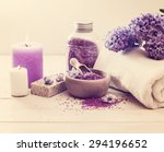composition of spa treatment on ... | Shutterstock . vector #294196652