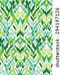 seamless ikat textile pattern.... | Shutterstock . vector #294197126