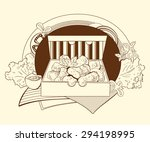illustration of nuggets in the... | Shutterstock .eps vector #294198995