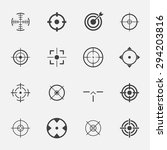 crosshairs icon set. | Shutterstock .eps vector #294203816