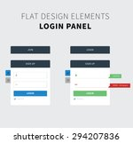 style flat ui kit design login...