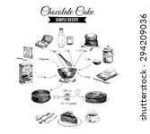 vector hand drawn chocolate... | Shutterstock .eps vector #294209036