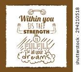 encourage quotes digital design ... | Shutterstock .eps vector #294210518