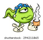 cartoon sleepy frog having... | Shutterstock .eps vector #294211865
