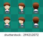 big head boy walking cartoon... | Shutterstock .eps vector #294212072