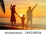 happy family with two kids... | Shutterstock . vector #294218936