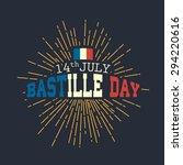 14th july happy bastille day... | Shutterstock .eps vector #294220616