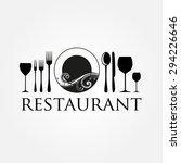 restaurant logo   idea for the... | Shutterstock .eps vector #294226646