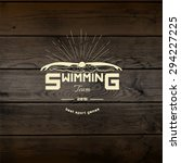 swimming badges logos and... | Shutterstock . vector #294227225