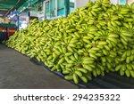 Raw Green Banana Stack ...