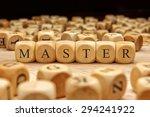 master word written on wood... | Shutterstock . vector #294241922