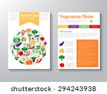 brochure flyer design vector... | Shutterstock .eps vector #294243938