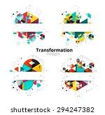 low polygon. geometry polygon... | Shutterstock .eps vector #294247382