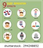 sleep deprivation effects info... | Shutterstock .eps vector #294248852