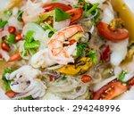 spicy shrimp with squid salad ... | Shutterstock . vector #294248996
