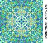 green kaleidoscopic graphic... | Shutterstock . vector #294249128