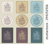 menu pan | Shutterstock .eps vector #294252506