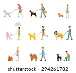 professional dog walking | Shutterstock .eps vector #294261782