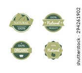 eco labels with retro vintage... | Shutterstock .eps vector #294261902