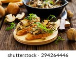 bruschetta with roasted wild... | Shutterstock . vector #294264446