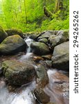 Small Waterfall along Ruckel Creek in Columbia River Gorge National Scenic Area Oregon