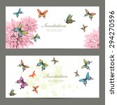 collection invitation cards... | Shutterstock .eps vector #294270596