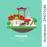 thailand concept   vector... | Shutterstock .eps vector #294272186