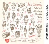 set drawings of ice cream for... | Shutterstock .eps vector #294278522