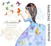 Cute Girl With Butterflies....