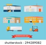 warehouses icons set....   Shutterstock .eps vector #294289082