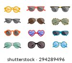 summertime sunglasses... | Shutterstock .eps vector #294289496