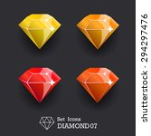 collection icons diamond yellow ...