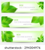 set banner ecology illustration ... | Shutterstock .eps vector #294304976