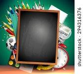 school background with school... | Shutterstock .eps vector #294316376