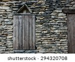 window with closed weathered... | Shutterstock . vector #294320708