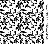 Elegant seamless pattern with classic tracery on a white background. Vintage style.