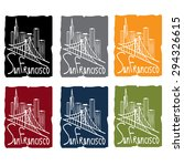 san francisco skyline sticker... | Shutterstock .eps vector #294326615