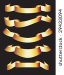 set of gold ribbons. this is a... | Shutterstock . vector #29433094